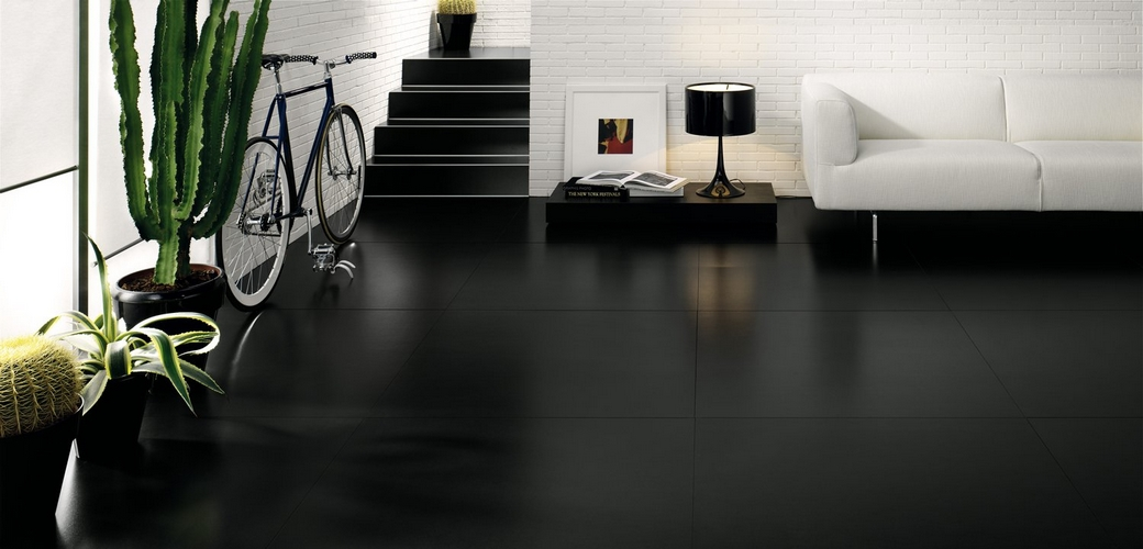 black colour ceramic tiles