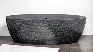 Bathtub of Aquamass / Stone One Mosaic
