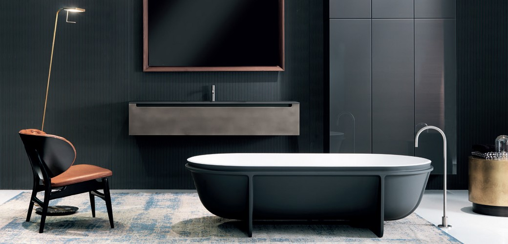 Falper produces high-end products like furniture, bathtubs and washbasins