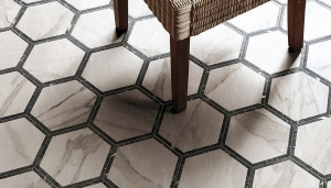 Ceramic tiles hexagon shape